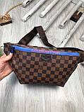 Красива Жіноча бананка Louis Vuitton коричнева Туреччина Якість поясна сумка на пояс VIP Луї Віттон репліка, фото 4