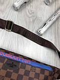 Красива Жіноча бананка Louis Vuitton коричнева Туреччина Якість поясна сумка на пояс VIP Луї Віттон репліка, фото 5