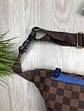 Красива Жіноча бананка Louis Vuitton коричнева Туреччина Якість поясна сумка на пояс VIP Луї Віттон репліка, фото 6
