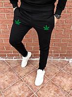 Мужские черные спортивные штаны, джоггеры, спортивні штани марихуана, каннабис, конопля