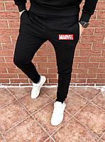 Мужские черные спортивные штаны, джоггеры, спортивні штани Marvel, Марвел, Реплика