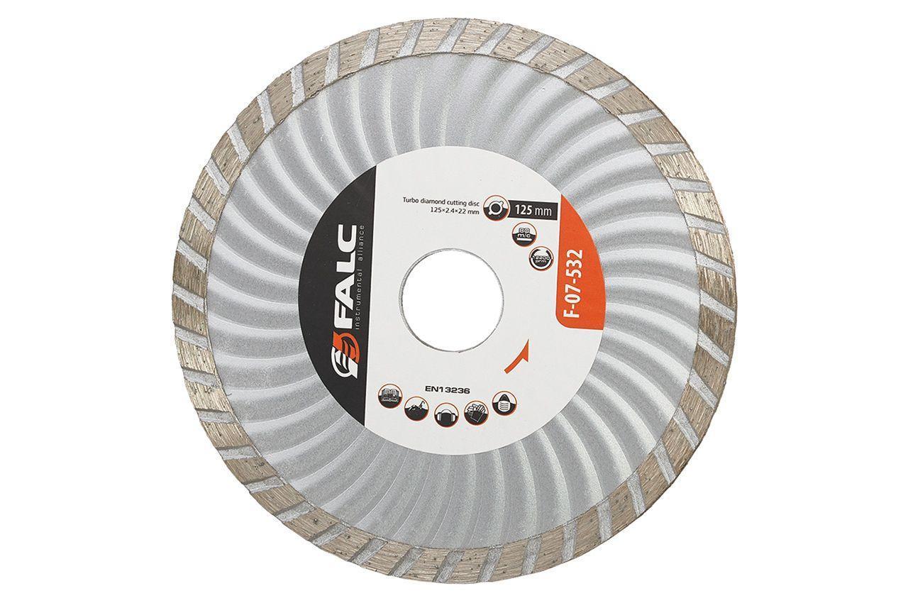 Диск алмазный Falc - 230 мм, турбоволна