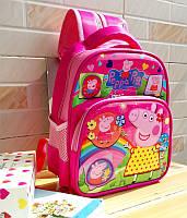 Рюкзак школьный розовый с веселой Свинкой Peppa