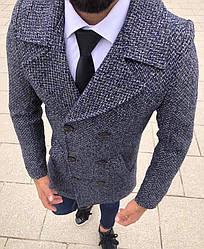 """Мужское пальто без бренда """"Blue"""""""
