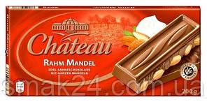 Шоколад молочный  с цельным миндалем Chateau Германия 200г