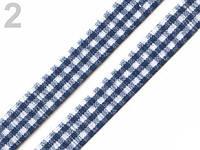 Лента клетчатая 10 мм. синяя, 410577