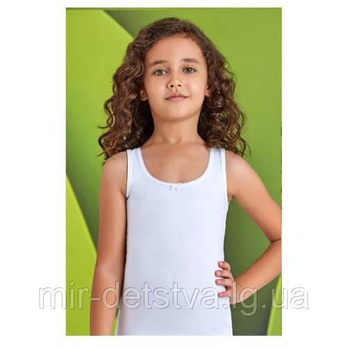 Майка белая для девочек ТМ Baykar, Турция оптом р.5 (146-152 см)