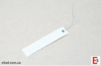 Етикетки на дроті білі 2,0 х 10 см, 250 шт ПВХ, фото 3