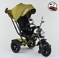 Детский трёхколёсный велосипед 4490 - 2749 Best Trike Зеленый, поворотное сиденье, складной руль, пульт