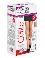 Жіночі  тілесні, капронові колготки Conte DRESS CODE для  офіса 8 den 3 шт