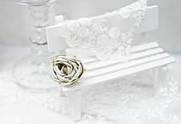 Головка розы премиум. серо-зеленый, фото 1