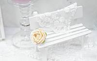 Головка розы премиум. кремовый, фото 1