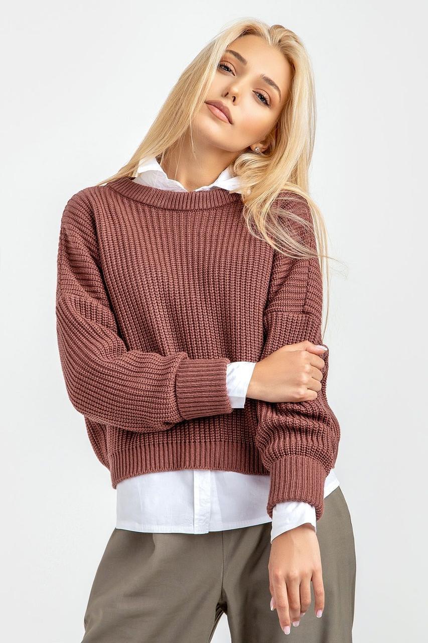 Комфортный вязанный свитер