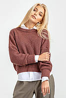 Комфортный вязанный свитер, фото 1