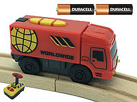 Пожарная машинка на батарейках для деревянной железной дороги Playtive Junior Truck