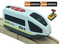 Поезд на батарейках для деревянной железной дороги Playtive Junior Loko