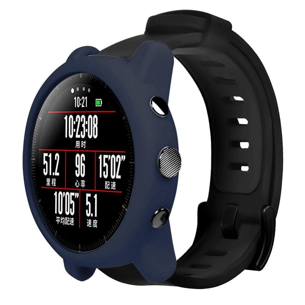 Amazfit Stratos 2/2 S Комплект (чехол и ремешок) для смарт часов, Navy blue