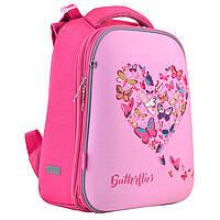 Рюкзак (ранец) 1 Вересня школьный каркасный 556040 Delicate butterflies H-12-1 38*29*15см