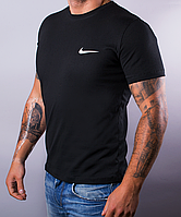 Размеры: 48,50,52,54,56,58. Чёрная мужская футболка Nike (Найк) / 100 % хлопок