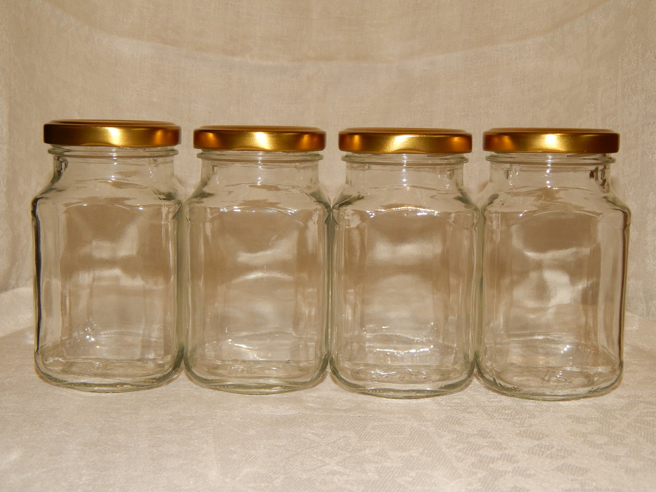 Набор стеклянных банок для специй (4 штуки)