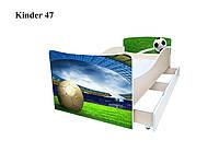 Детская подростковая кровать для мальчика Футбол
