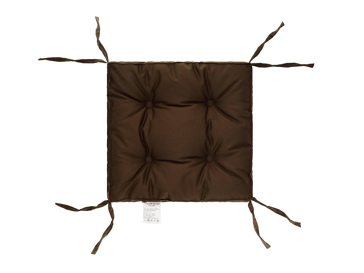 Подушка на стул 40х40 (борт 5см) COLOR коричневая