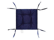 Подушка на стул 40х40 (борт 5см) COLOR синяя