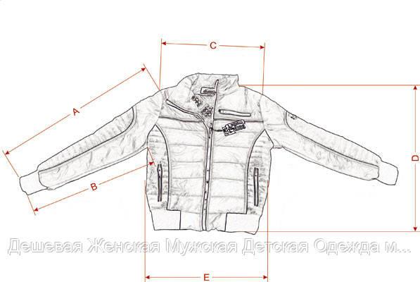 Размерная сетка детских демисезонных курток