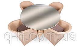 Комплект мебели стол 150см + 4 кресла Barselona - Barselona-25