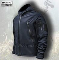 Куртка мужская Softshell темно синяя тактическая Tactical Jacket Dark Blue Camo-tec