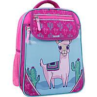 Школьный ортопедический рюкзак Bagland для девочек малиновый бирюзовый