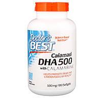 Рыбий жир из кальмара, DHA from Calamari, Doctor's Best, 500 мг, 180 капсул