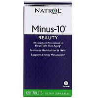 Альфа-липоевая кислота Минус 10, Alpha Lipoic Acid, Natrol, 120 таблеток