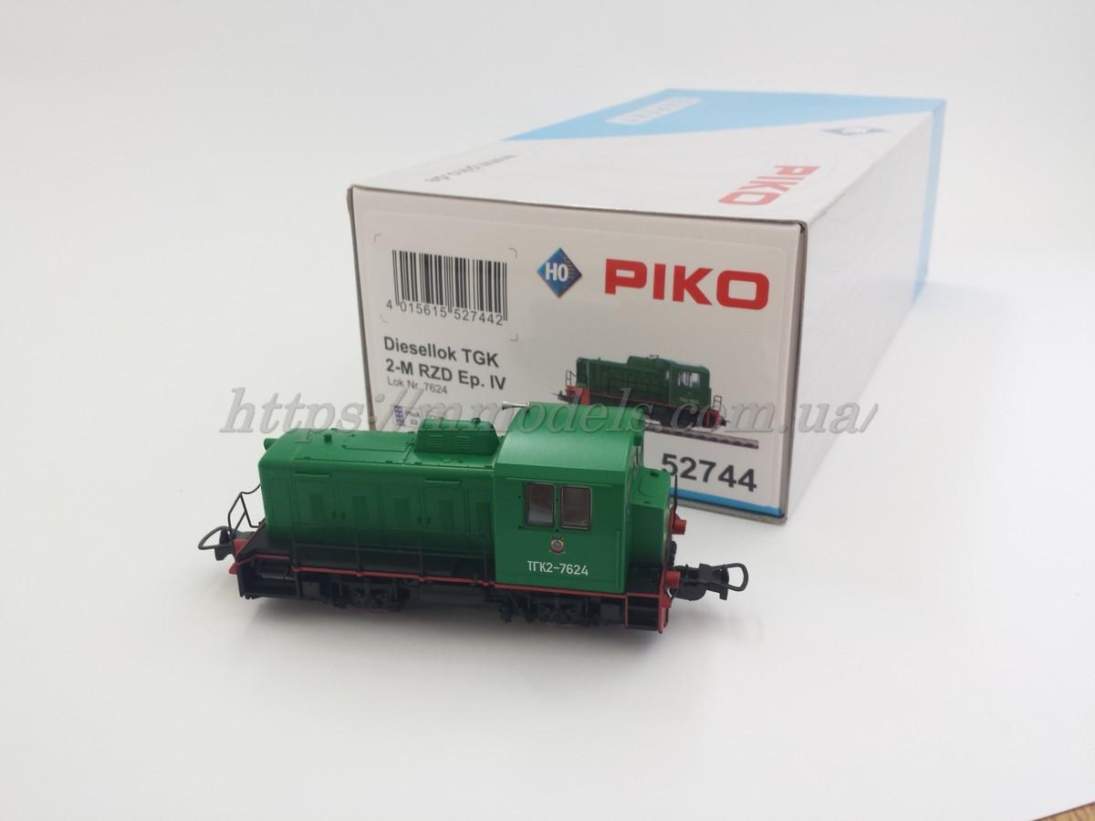 PIKO 52744 модель локомотива маневровый тепловоз ТГК2-7624 СЖД,масштаба 1/87,H0