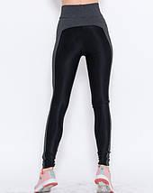 Спортивні жіночі з еластику Issa Plus 9947 чорний з сірим, фото 2