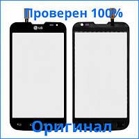 Original тачскрин LG D325 Optimus L70 Dual черный (сенсорный экран, стекло в сборе)