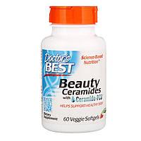 Красота и здоровье кожи, Beauty Ceramides, Doctor's Best, 60 вегетарианских капсул