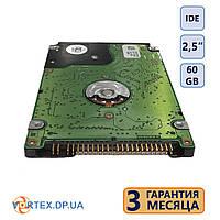 Жёсткий диск IDE 2,5 дюйма, 60 Gb (б.у.)