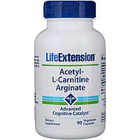 Ацетил карнитин аргинат (Acetyl-L-Carnitine Arginate), Life Extension, 90 капсул