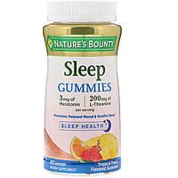 Комплекс для сна,Sleep Gummies, Nature's Bounty, вкус тропического пунша, 60 жевательных таблеток