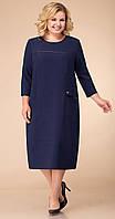 Платье Линия-Л-1741 белорусский трикотаж, синий, 60