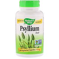 Подорожник (Psyllium Husks), Nature's Way, 525 мг, 180 капсул