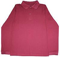Бордовая рубашка поло для мальчика, рост 134 см, 140 см, Фламинго
