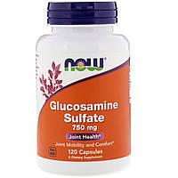 Глюкозамин сульфат, Glucosamine Sulfate, Now Foods, 750 мг, 120 капсул