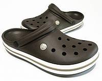 Мужские кроксы шоколадные, сабо Crocs оригинал