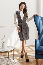 Платье-сарафан, №155, черное в полоску, фото 3