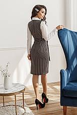 Платье-сарафан, №155, черное в полоску, фото 2