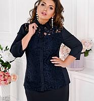 Жіноча сорочка з гипюровыми вставками, з 48-62 розмір