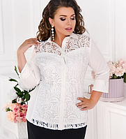 Сорочка з гипюровыми вставками, з 48-62 розмір
