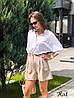 Классические элегантные шорты «Асти»,  костюмка в полоску. Размер:S, M. Разные цвета (1040), фото 9